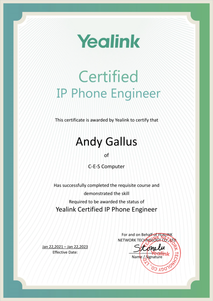 Yealink Certified IP Phone Engineer