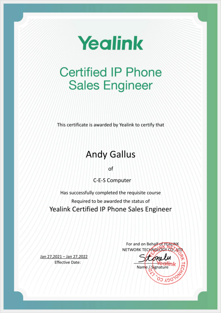 Yealink Certified IP Phone Sales Engineer