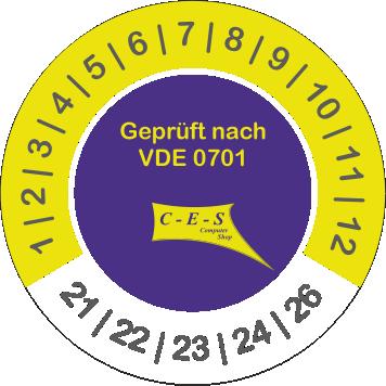 Prüfetikett VDE 0701
