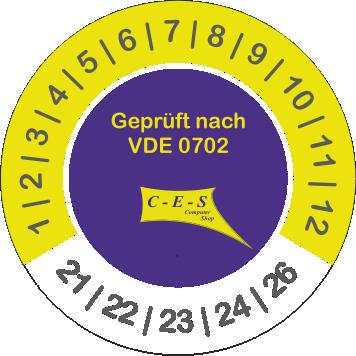 Prüfetikett VDE 0702